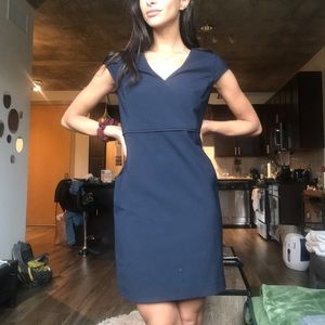 Ann Taylor Navy Pencil Dress